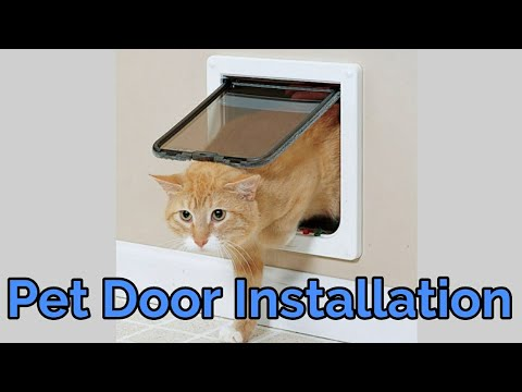 Pet Door Installation in a Metal Door