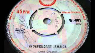 LORD CREATOR - INDEPENDANT JAMAICA (1962 ISLAND)