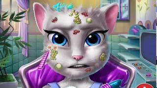 Кошка АНЖЕЛА у косметолога  Покусали насекомые!