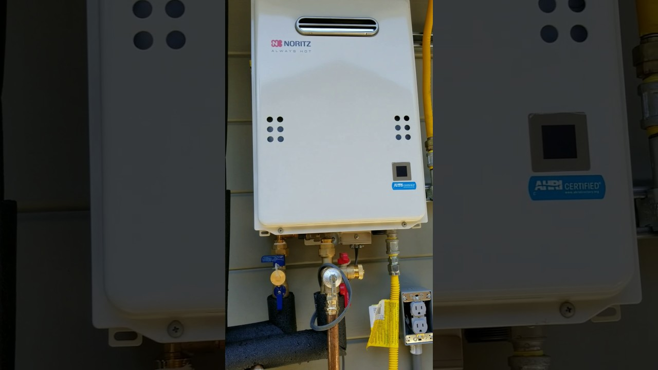 Tankless Water Heater 1 2 Gas Line Youtube