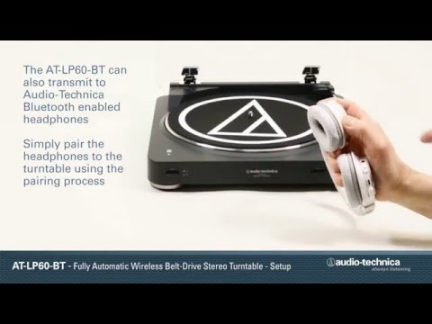 AT LP60 BT Setup   Wireless Turntable YouTube