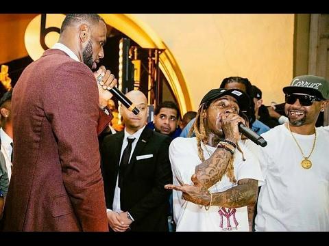 "LeBron Reunites Hot Boys ""Juvenile Wayne Turk Mannie Fresh Perform At NBA All Star party"""