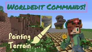 How to Color Terrain with Worldedit - Easy Commands!