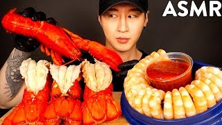 ASMR LOBSTER & SHRIMP COCKTAILS MUKBANG (No Talking) EATING SOUNDS | Zach Choi ASMR
