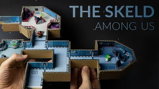 Building THE SKELD (Among Us) with cardboard & clay - Part 1