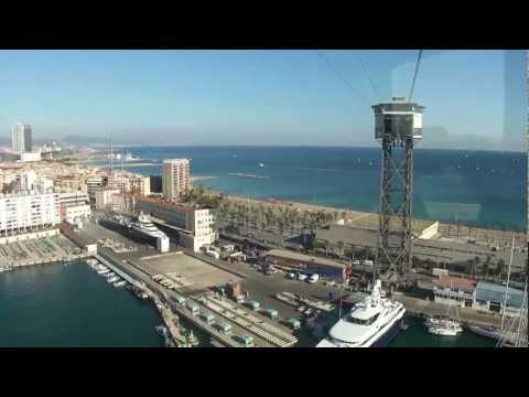 Best view of Barcelona [HD] - Transbordador Aeri del Port - Port Cable Car