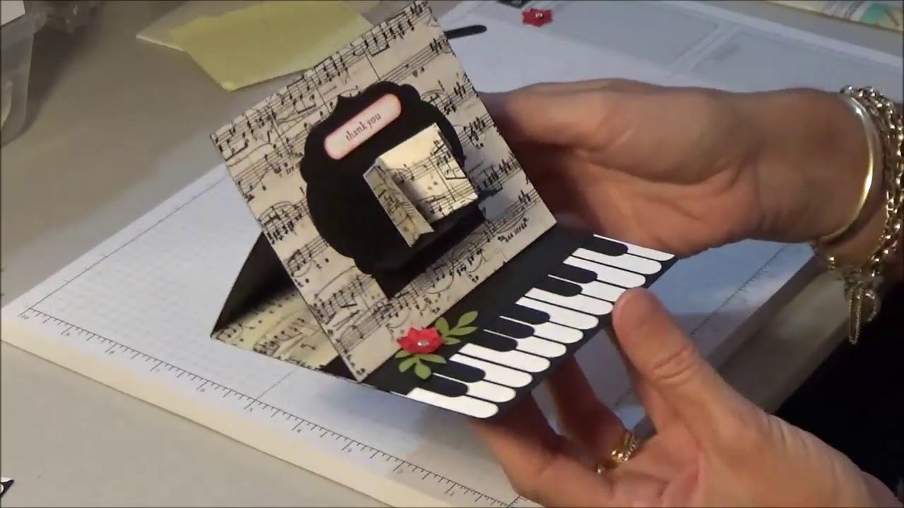 Stampin Up Piano Easel Card YouTube