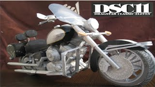 Paper craft of motorcycle YAMAHA DSC11