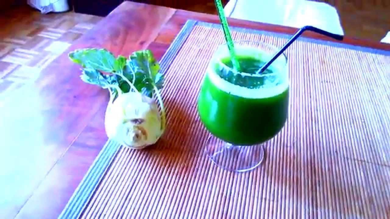 Jus de légumes de mon panier : chou-rave et pomme - YouTube