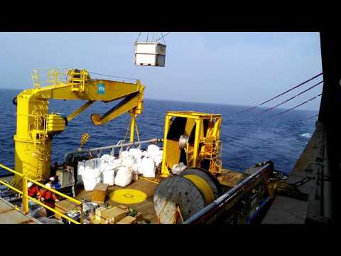 Offshore crane operations.