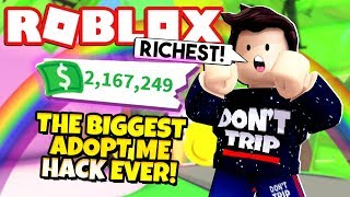 Adopt Me MONEY HACK Makes Me the RICHEST Ever! NEW Adopt Me Gingerbread House Update (Roblox)