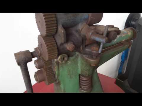 DOREX Antique leather skiving machine, van Doorn Rotterdam. For sale.