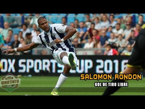 Goles Vinotinto │ GOL de tiro libre de Salomón Rondón │ Vitesse 1-2 West Brom