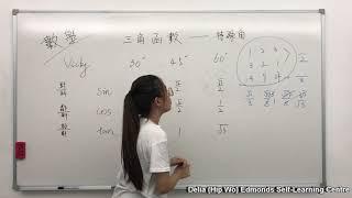 Publication Date: 2019-07-28 | Video Title: 三角函數 - 特殊角 , 地利亞修女紀念學校(協和)