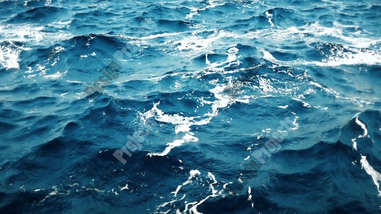 Animation Of Blue Ocean Background Pattern Loop Youtube