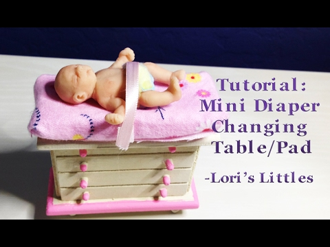 DIY Easy Mini Diaper Changing Table and Pad