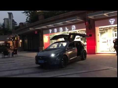 Tesla Model X Dances To Music