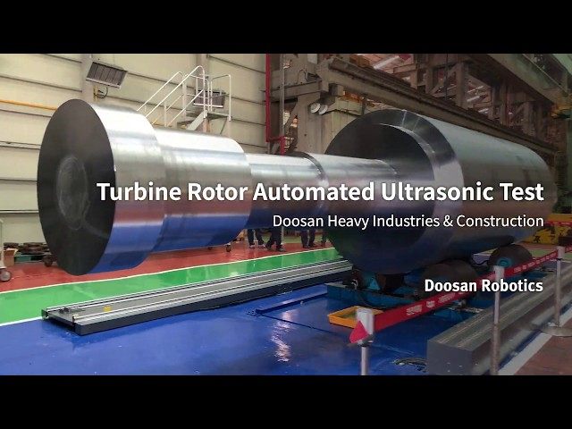 [Field Application] Turbine Rotor Automated Ultrasonic Test