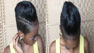Braided Pompadour With Cornrows On Undercut/ Shaved Back