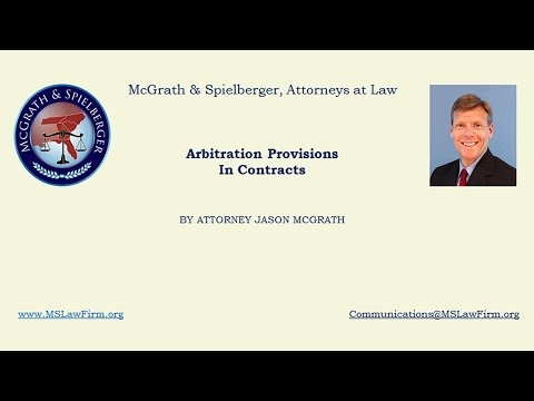 Arbitration Provisions In Contracts