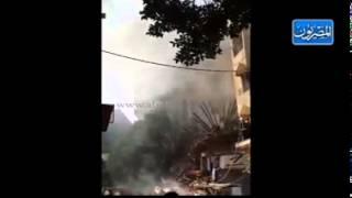 حريق هائل بشارع الفجالة برمسيس