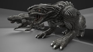 Alien Animal test in Blender Game Engine