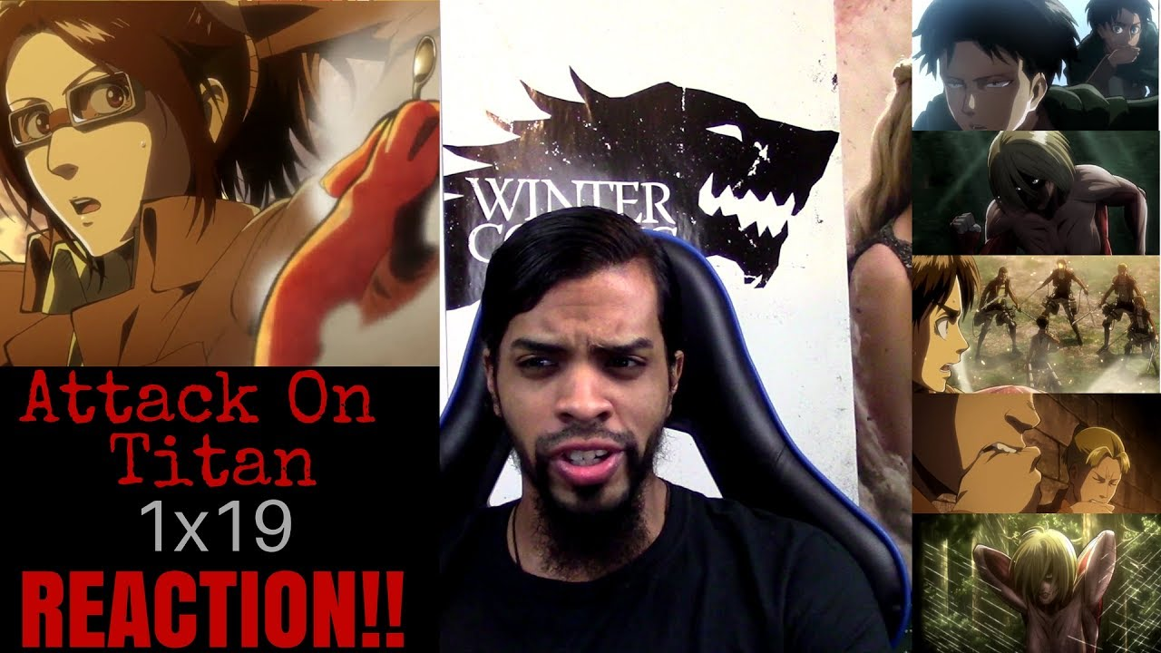 "Attack on Titan 1x19 REACTION/REVIEW!!!! ""Bite"" - YouTube"