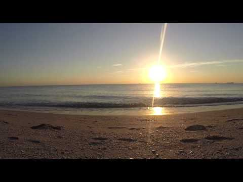 Sunrise  the Beach , Ocean Waves Sound