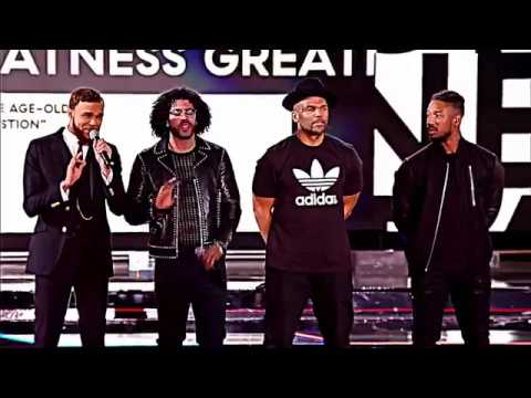 THE ROOTS fire NBA ALL STAR GAME INTRO ft. Jidenna, Daveed Diggs, Michael B Jordan