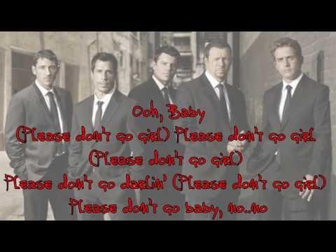 NKOTB -  Please Don't  Go Girl (lyrics)