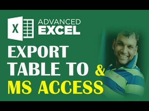 #23 Hindi EXPORT MS EXCEL DATA TO MS ACCESS SO QUICKLY
