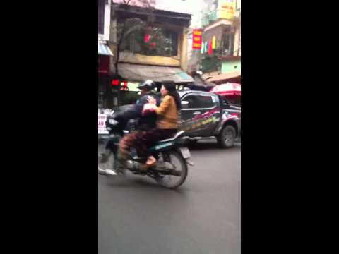 A ride in Hanoi Downtown