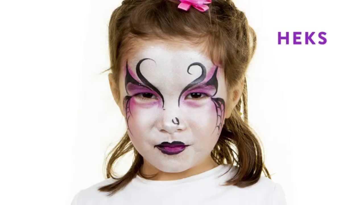 Halloween Schmink Kind.Libelle Grime Halloween Heks