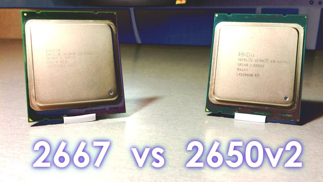 Xeon 2667 vs 2650v2. Средняки кусаются.