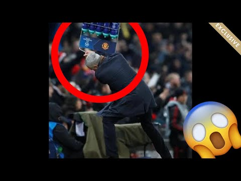 Jose Mourinho throws water bottles and reactions 😂