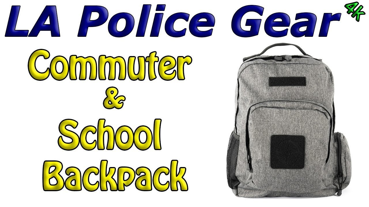 LA Police Gear 600D Polyester Hydration Compatible Commuter//School Pack Midnight Blue