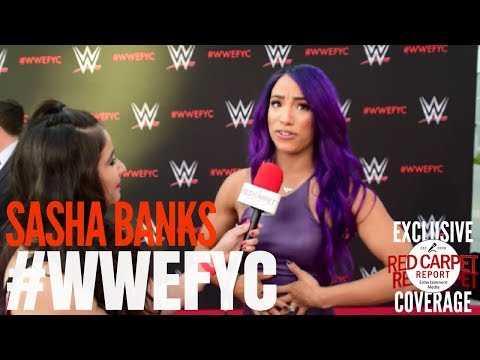 "Sasha Banks interviewed at the ""WWE"" FYC Event #WWEFYC #WWE #Emmys"