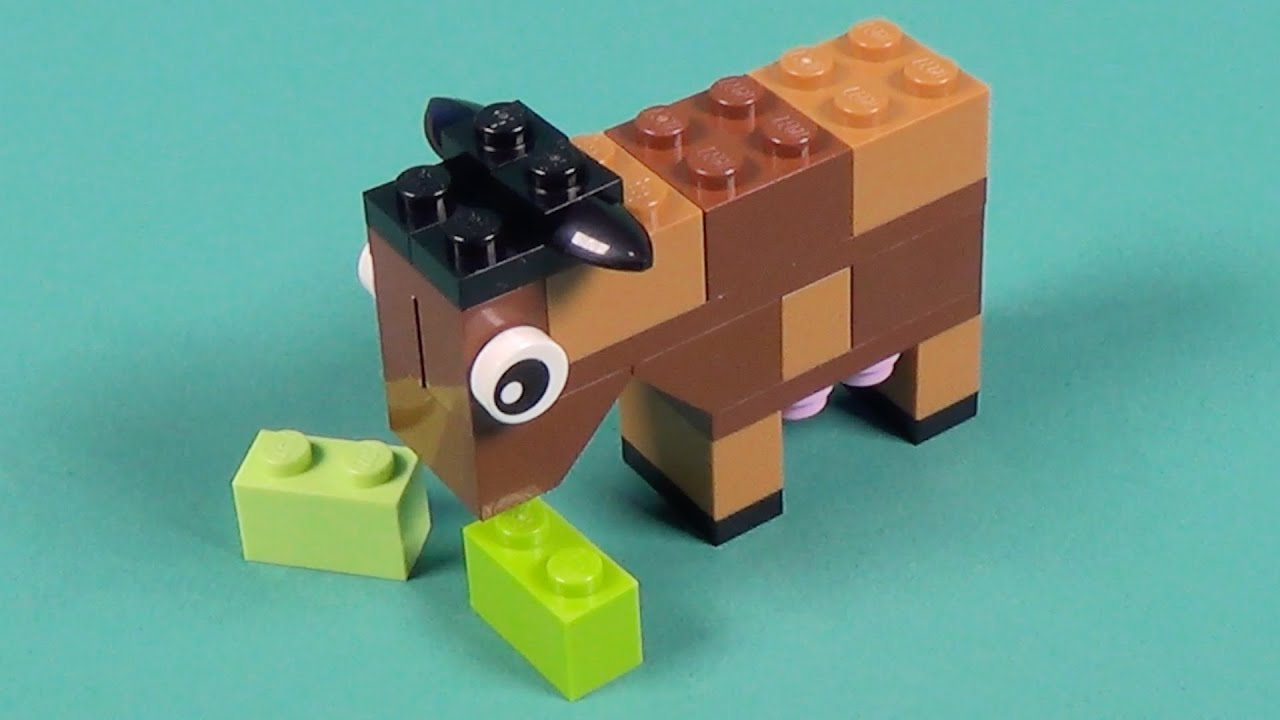 Lego Cow Building Instructions Lego Classic 10692 How To Youtube