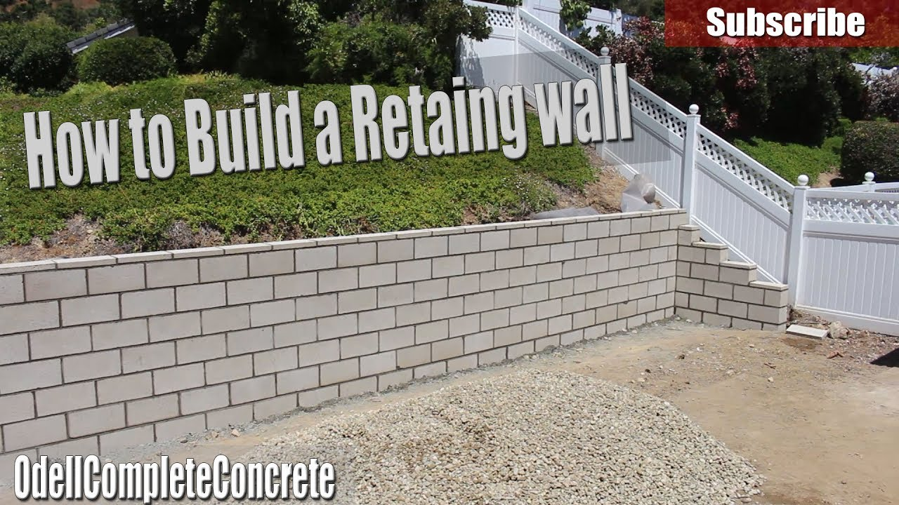 How To Build A Retaining Wall Diy Youtube