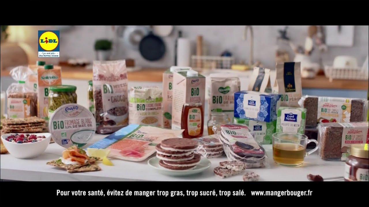 pub Lidl – gamme de produits Bio «bien plus que vous le l'imaginez!»  Juin 2021