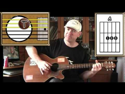 Three Little Birds - Bob Marley - Acoustic Guitar Lesson (easy-ish) - (detune By 1 Fret)