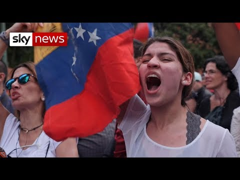 """""""We want change, we want freedom"""": Venezuelans protest on streets"""