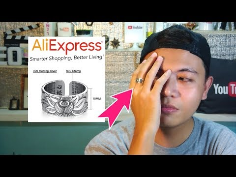 100% Real 999 Pure Silver Jewelry Lotus Flower Ring Unboxing Review from Aliexpress