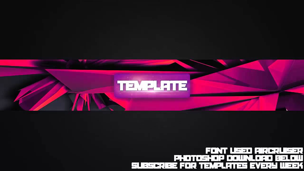 Cool channel art template 32 free photoshop download for Cool youtube channel art templates