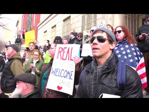 #NoWallNoBan White House Rally and March Refeed