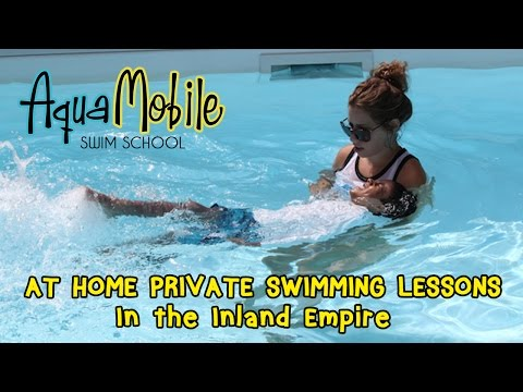 Inland Empire, California at home private swimming lessons