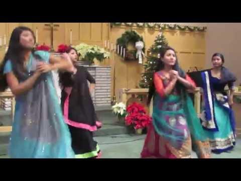 Hindi christian christmas dance by BNCP girls