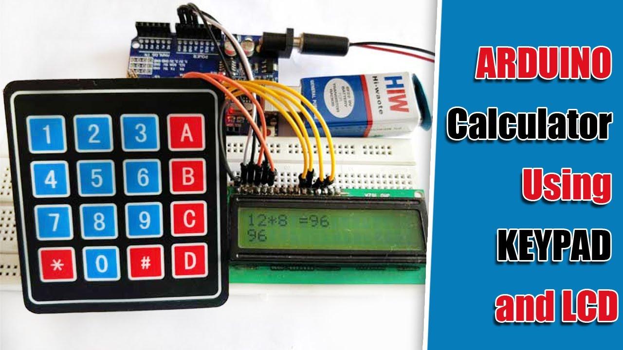 Arduino Calculator using 4x4 Keypad