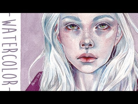 Detailed Watercolor Painting Process
