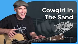 Neil Young - Cowgirl In The Sand Guitar Lesson Tutorial - Acoustic JustinGuitar